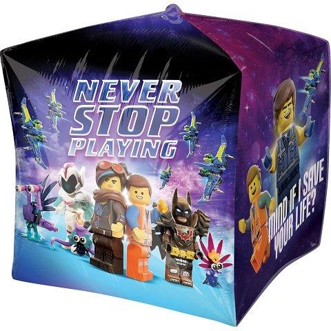 "Lego Movie 2 Cubez Foil Balloon Birthday Party Decoration Supplies ~15/"" Helium"