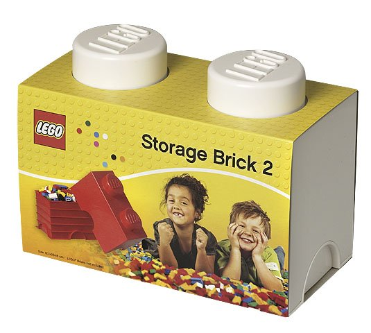 Storage Box Storage Lego White 1x1 Brick