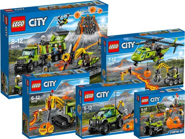 LEGO City Vulkaan Collectie 2016